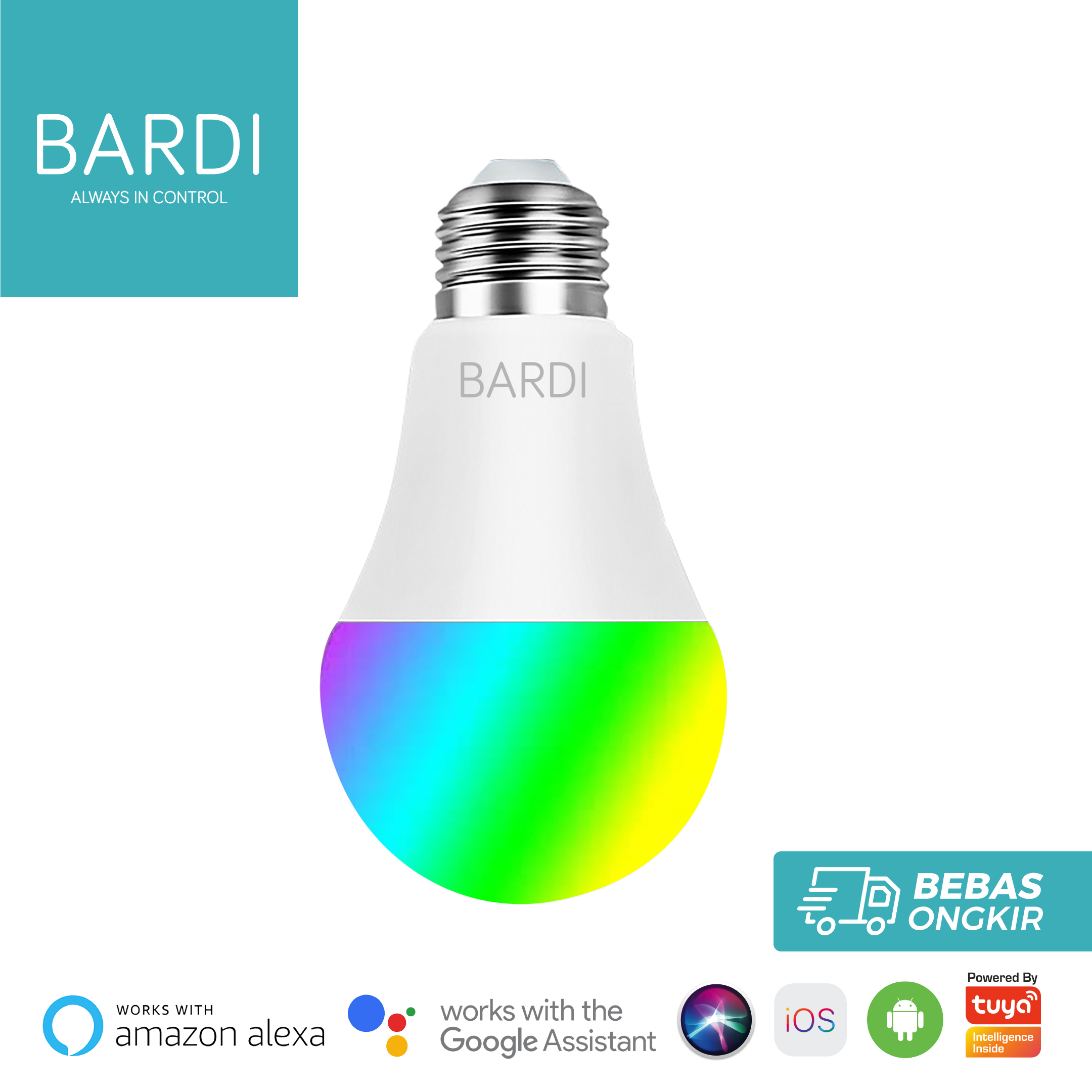 BARDI Smart LED Light bulb RGB+WW 9W