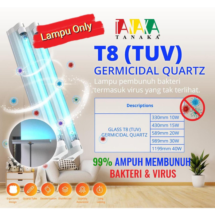 Lampu LED UV T8 Sterilization 10W