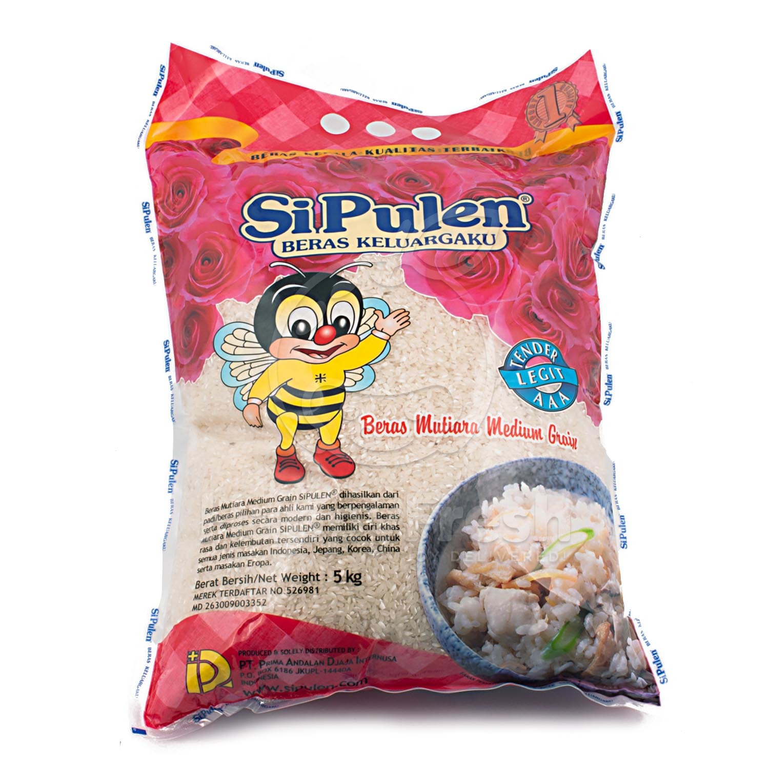 Beras Si Pulen Mutiara Medium Grain 5kg