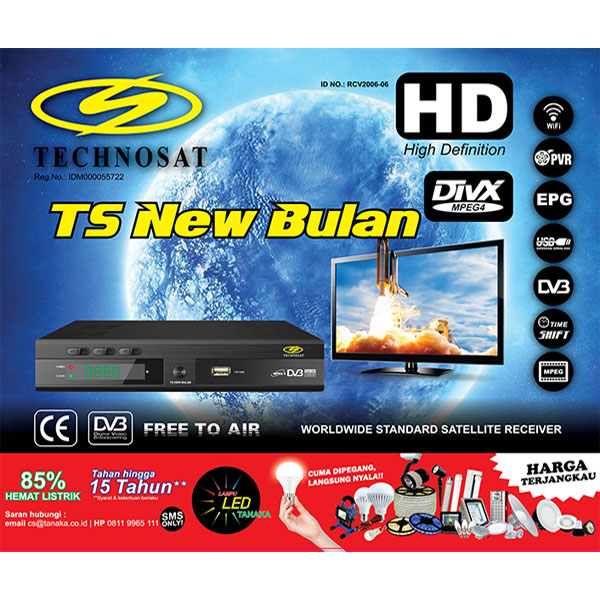RECEIVER RCV TS-2000 NEW BULAN HD